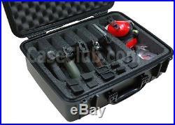 Case Club Waterproof 5 Pistol Case & Accessory Pocket with Silica Gel
