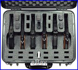 Case Club Waterproof 6 Pistol Case Silica Gel 12 Magazine Storage Foam Insert