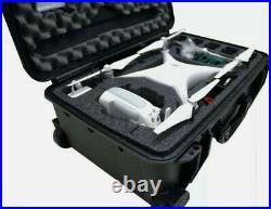 Case Club Waterproof DJI Phantom 4 Drone Wheeled Case (Propellers On)