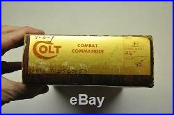 Colt #153 Series 70 Combat Commander 45 ACP Wood grain Styrofoam box