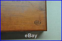 Colt #202 Factory Wood Presentation Case Deluxe Set Govt Model 380 and Mustang
