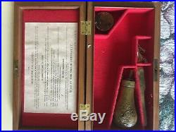 Colt Oak Case For A 1849 Colt Felt Lined Colt Gold Rush