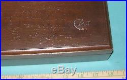 Colt Pistol Gun Presentation Case Walnut Wood Lock Key Black Powder