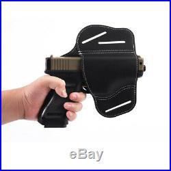 Concealed Leather OWB Belt Right Hand Gun Pistol IWB Holster Clip Case for Glock