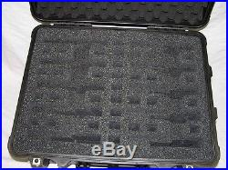 Custom 10 pistol handgun foam insert kit fits your Pelican case +nameplate