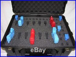 Custom 14 pistol handgun foam insert kit fit your Pelican 1560 case +nameplate