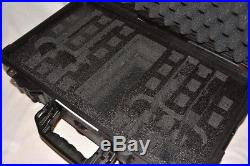 Custom 4 pistol handgun foam insert kit fits your Pelican 1510 case +nameplate
