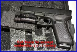 Custom 4 pistol handgun gun foam insert kit fits Pelican 1450 case + Red Topper