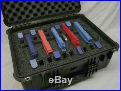 Custom 5 pistol handgun foam insert kit fits your Pelican 1550 case +nameplate