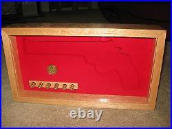 Custom Wood Pistol Gun Presentation Case For Colt 1911, Python, Saa, S&w
