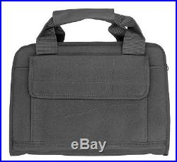 Deluxe Black Extra Thick Padded Concealed Pistol Case Hand Gun Pouch Mag Bag