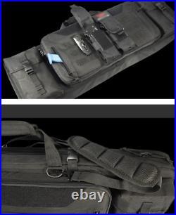 Double Long Rifle Tactical Hunting Gun Shooting Pistol Transportation Carry Bag
