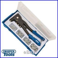 Draper Tools Hand Pop Riveter Gun Kit + 100 Rivets + Case 13963