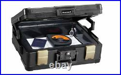 Fire Water Proof Chest Box Lock Molded Case Document Storage 1 Hour Protection