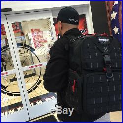 GPS Tactical Range Backpack 3-Gun Shooting Range Bag Pistol Travel Case TAN