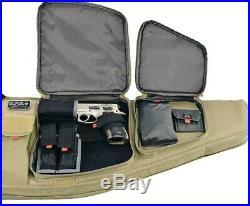 GPS Tactical Rifle Case 35 with External Handgun Holster Carbine Range Bag TAN