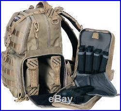 GPS Tactical Tactical Range Backpack, Tan GPS-T1612BPT Range Bag