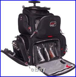 G OUTDOORS G. P. S. Rolling Handgunner Backpack Black Gun Shooting Bag Accessory