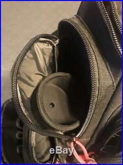 G. P. S. Handgunner Backpack BLACK withRED Shooting Range Bag Pistol Travel Case