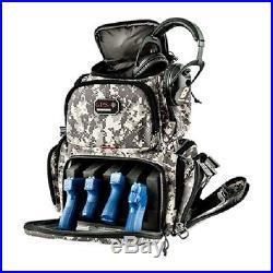 G. P. S. Handgunner Backpack BLACK with TAN Shooting Range Bag Pistol Travel Case