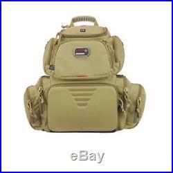G. P. S. Handgunner Backpack TAN Shooting Range Bag Pistol Travel Case Gun Bag