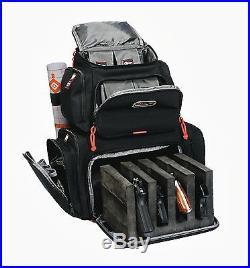 G. P. S. Rolling Handgunner Backpack BLACK Shooting Range Bag Pistol Travel Case