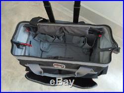 G. P. S. Rolling Range Bag BLACK Shooting Range Bag Pistol Travel Case Sport Bag