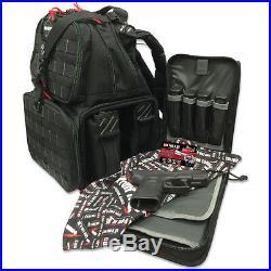 G. P. S. Tactical Range Backpack BLACK Shooting Range Bag Pistol Travel Case Hunt