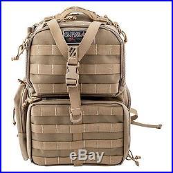 G. P. S. Tactical Range Backpack TAN Shooting Range Bag Pistol Travel Case Hunt