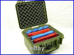 Green Pelican 1300 custom 3 pistol handgun foam gun Travel case + nameplate