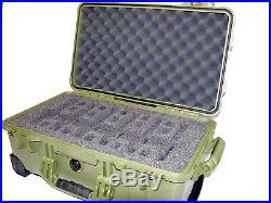 Green Pelican 1510 + custom 6 pistol handgun foam gun Travel case + nameplate