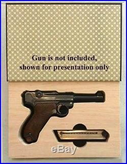 GunBook for Parabellum P08 Luger WITH STOCK LUG gun wood carry box safe case