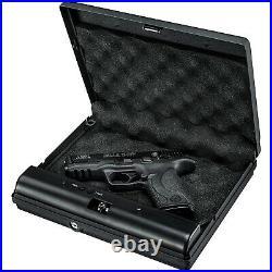 GunVault MicroVault Portable Handgun Case with Digital Keypad, Black (2 Pack)