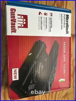 GunVault MicroVault Portable Handgun Case with Illuminated Digital Keypad, Black