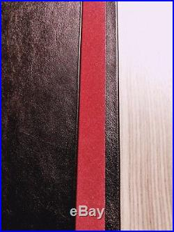 Gun Book for Glock 17 with blue velvet bullet slots leather display carry box