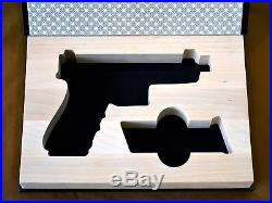 Gun Book for Glock 17 with threaded barrel / suppressor sight display case safe