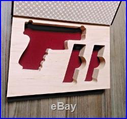Gun Book for Glock 19 hollow solid wood secret diversion