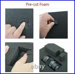 Gun Box Case Storage Hard Pistol Carry Foam Safe Tactical Padded Shotgun Case