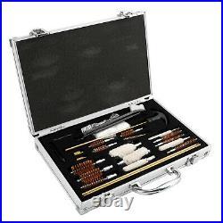 Gun Cleaning Kit Metal Case Deluxe Universal Hunting Pistol Hand Rifle Shotgun