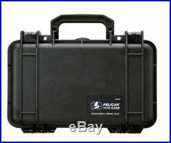 Gun Pistol Hard Case Handgun Storage Box Padded Carry Bag Hand Lockable Pouch Bl