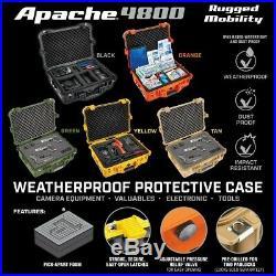 Gun, camera, microphone case, 4800 Weatherproof Protective Case X-Large -Black