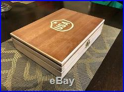 Hand Crafted USA Solid wood Storage boxes, gun case, display box Maple