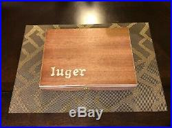 Hand Crafted luger Solid wood Storage boxes, gun case, display box Oak