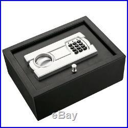 Hand Gun Safe Box Digital Lock Drawer Security Safety Case Chest Pistol Cash Bin