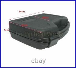 Handgun Hard Case Shell Tactical Pistol Revolver Lockable Waterproof Foam Black