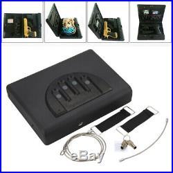 Handgun Safety Storage Full Size Safe Vault Security Pistol Case Key Lock Box