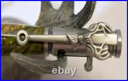 Handmade Camo Deer Hunter Pen Hand Turned Alumilite Resin Pewter with Gun Case