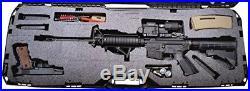 Heavy Duty Hard Case Durable Protective Carrier Rifle Bullet Handgun Storage Blk