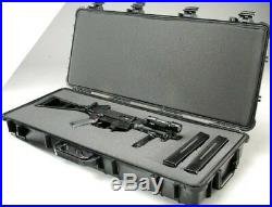 Heavy Duty Pelican 1700 Protective Durable Rifle Carry Case With Foam (OD Green)