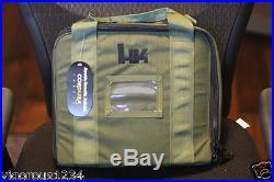 Heckler Koch Factory GREEN Soft TACTICAL PISTOL CASE HK45 P30 USP P2000 VP9 P7